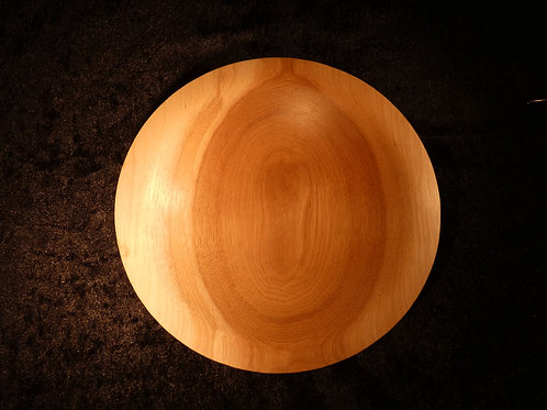 Wooden Bowl made from Hickory wood handturned in Devon, England