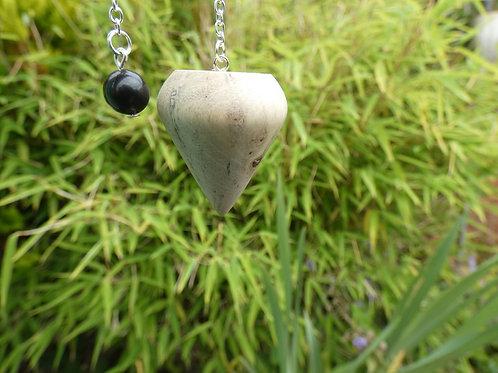 Wooden Pendulum English Ivy Wood handturned in Devon