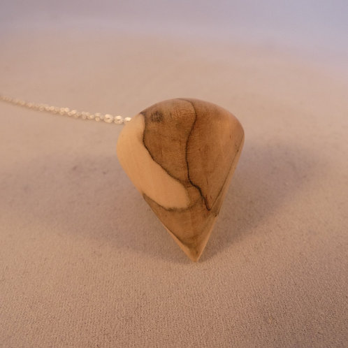 Wooden Dowsing Pendulum English Rowan Wood handturned in Devon