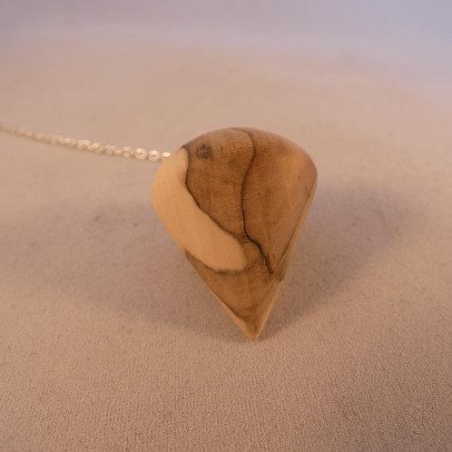 Wooden Dowsing Pendulum English Rowan Wood handturned in Devon