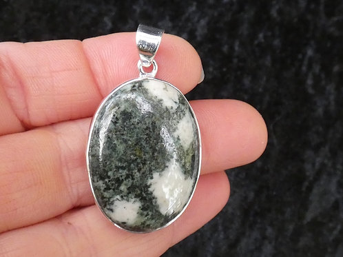 Preseli Bluestone (Dolerite) Crystal Pendant or Amulet set in silver