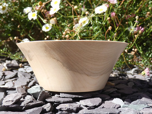 Wooden Bowl made from English Sycamore wood handturned in Devon