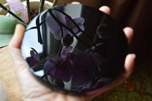 Black Obsidian Scrying Mirror - 445g