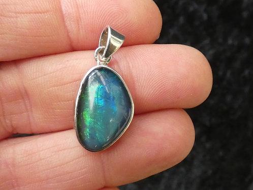 Opal Triplet Crystal Pendant or Amulet set in sterling silver