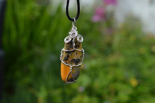 Bumblebee Jasper Crystal Pendant or Amulet