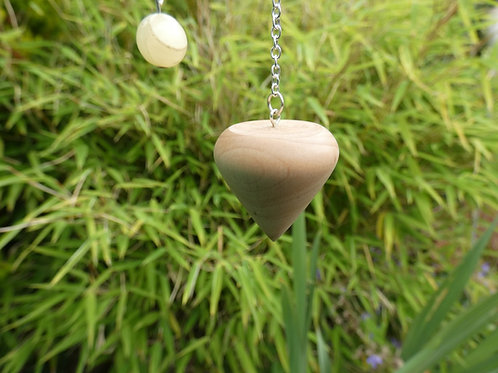 Wooden Pendulum English Hazel Wood handturned in Devon