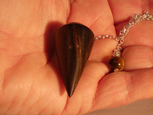 Wooden Dowsing Pendulum African Blackwood or Grenadilla Wood handturned in Devon