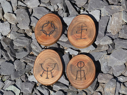 Gypsy Charms Set crafted from English Myrtle Wood