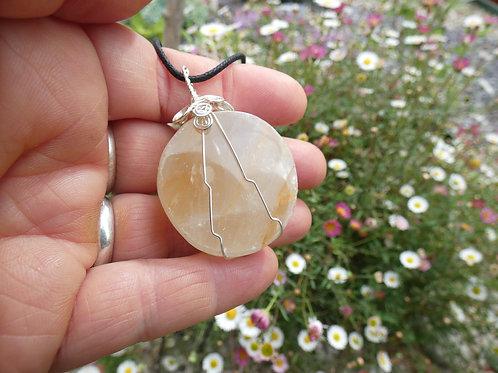 Golden Healer Quartz Crystal Pendant or Amulet