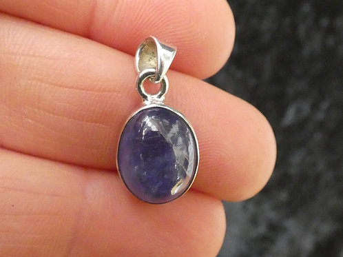 Tanzanite Crystal Pendant or Amulet set in sterling silver