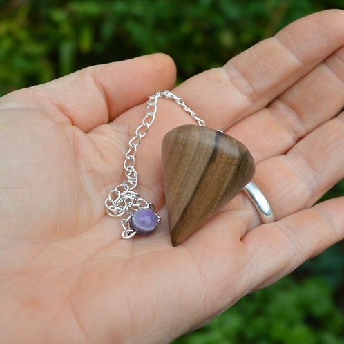 English walnut dowsing pendulum