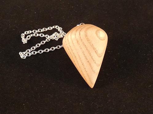 Ash wood dowsing pendulum