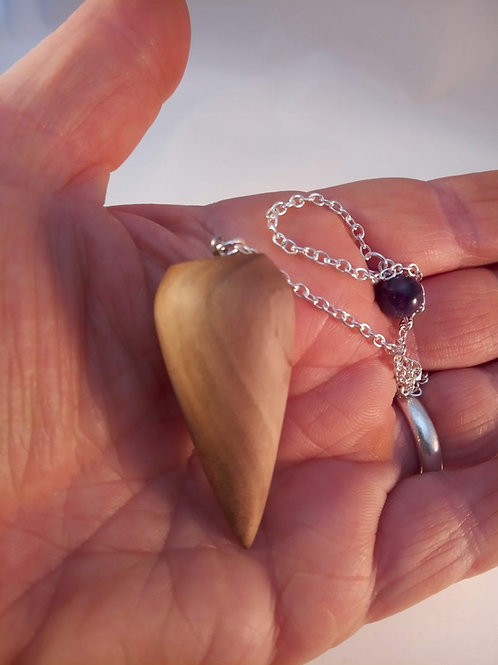 Wooden Dowsing Pendulum English Myrtle Wood