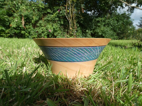 Wooden Bowl made from Monterey Pine wood handcrafted