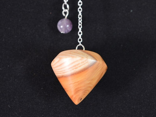 Wooden Pendulum from English Yew handturned in Devon for Dowsing & divination