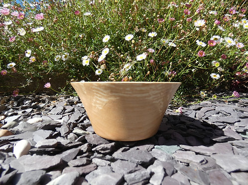 Wooden Bowl made from English Silver Birch wood handturned in Devon