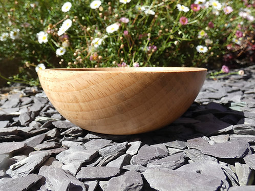 Wooden Bowl made from English Beech wood handturned in Devon