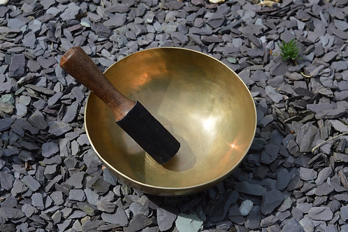 "Singing Bowl Traditional Hand Beaten 19.5cm/7.5"" Throat & Crown Chakra"