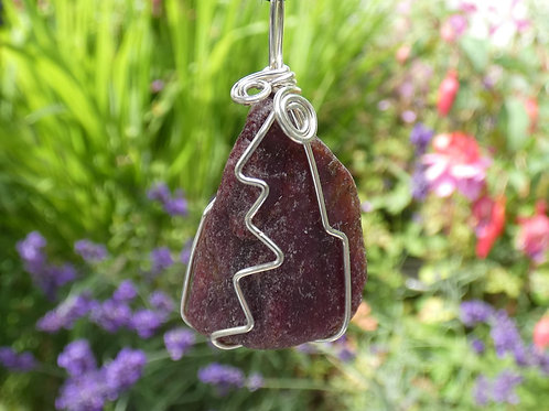 Raw Ruby Crystal Pendant natural crystal on adjustable cord