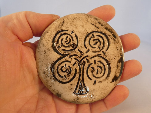 Ceramic Celtic Tree of Life Amulet or Altar Decoration