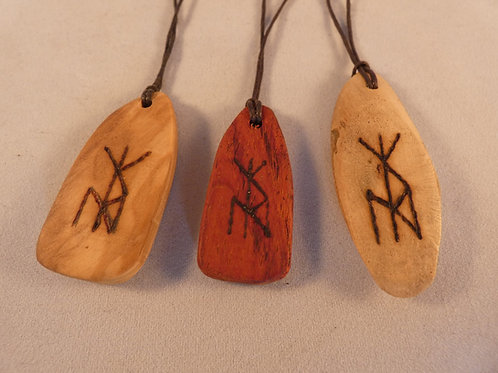 Wooden Bind Rune Travel and Journeying pyrography design