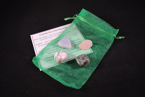 Crystal Healing Kit for Releasing Anger incl tumble stones