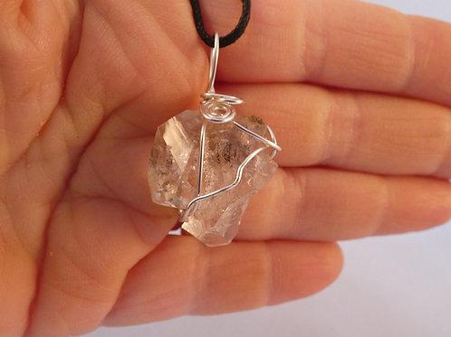 Herkimer Diamond Crystal Pendant Double Terminated crystal