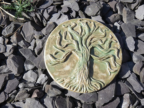 Ceramic Tree of Life Amulet or Altar Decoration-  Pagan, Wicca, Rituals and Alta
