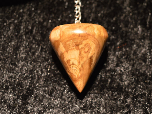 Wooden Pendulum from English Apricot handturned in Devon for Dowsing