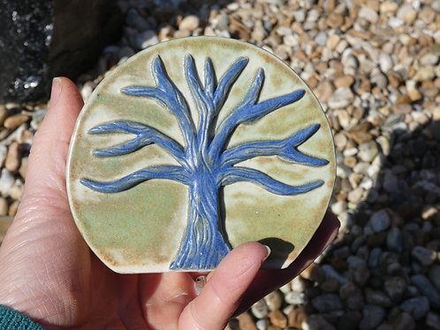 Ceramic Tree of Life Vase or Altar Decoration