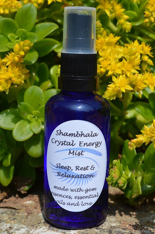 Sleep, Rest & Relaxation Crystal Energy Mist with Gem Essence and Essential Oils