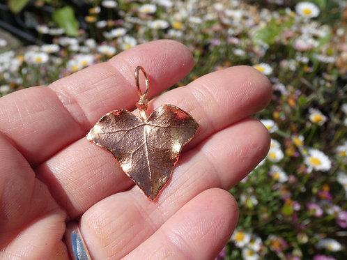 Ivy Leaf and Copper Alchemy Energy Amulet