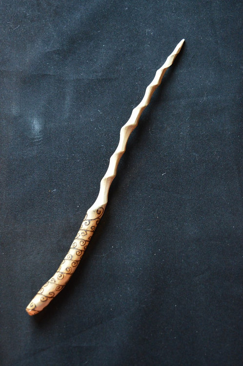 Wooden Wand made from Devon Honeysuckle for wicca, pagan and magick