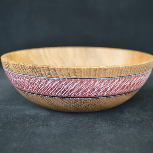 Wooden Bowl made from English Oak wood handturned in Devon