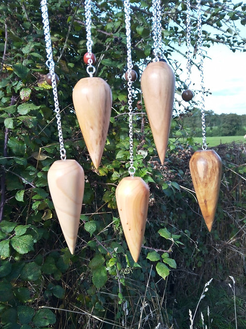 Wooden Pendulum assorted woods incl Ash, Oak, Alder, Hazel, Yew, Walnut etc