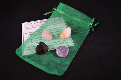 Crystal Healing Kit for Stress Relief incl tumble stones