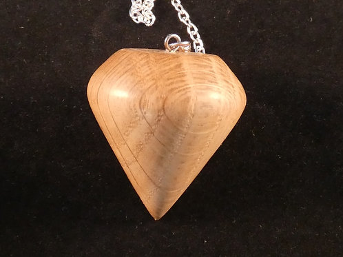 Oak wood dowsing pendulum