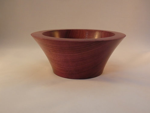 Wooden Bowl made from Purple Heart wood handcrafted in rural Gloucestershire