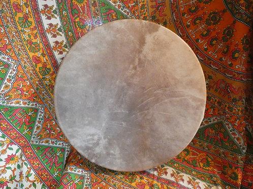 """Shamanic Drum and Beater 18"""" Round Brown"""