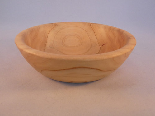 Wooden Bowl made from Monterey Pine wood handturned in Devon, England