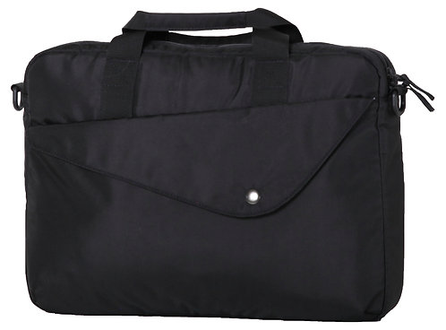 Front view of soft side-based bag with strap