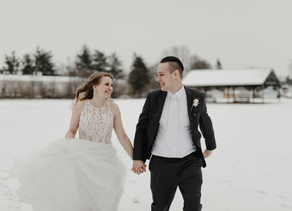 Sweet Winter Wedding in Mishawaka, IN