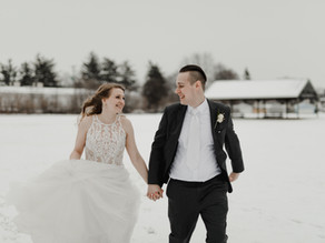 Sweet Winter Wedding in Mishawaka, IN