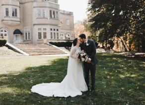 Vintage Mansion Indiana Fall Wedding