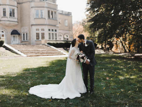 Vintage Mansion Indiana Fall Wedding