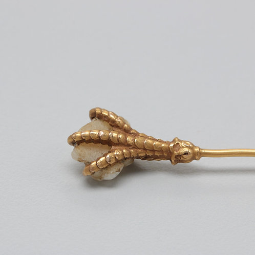 Gold Pearl Claw Pin - From the Family Vault