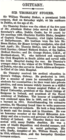 William Thornley Stoker NYTimes Obit 191