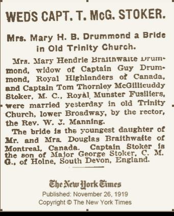 B - Mary Drummond-Tom Stoker NY Times Ma