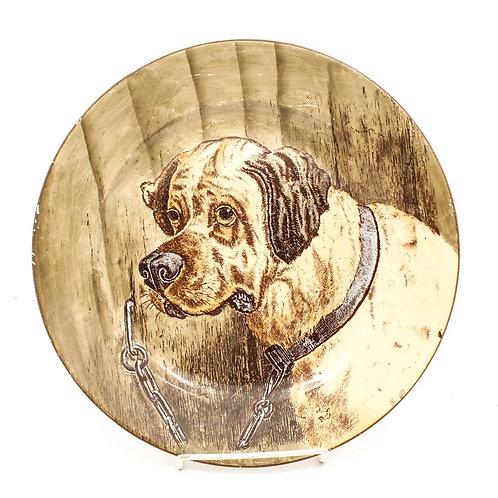 Antique Cauldon Plate - Mastiff