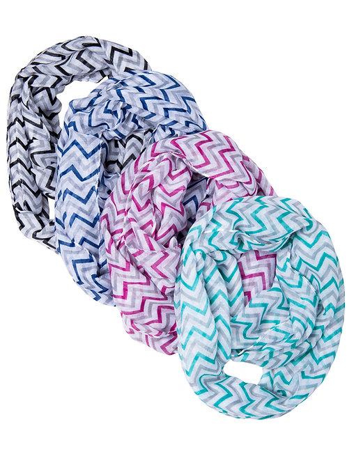 4-Pack Chevron Infinity Scarves